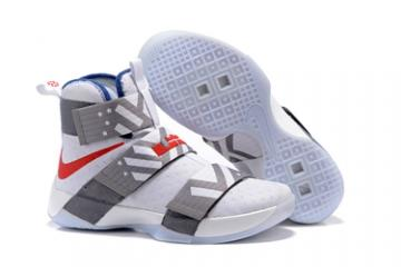 e22cd8698a Nike Lebron Soldier 10 EP X Men White Gray Red Basketball Shoes Men