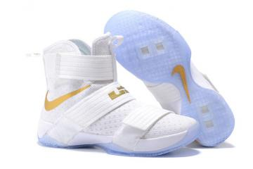 86b816e81cbc Nike Lebron Soldier 10 SFG EP X James Strive for Greatness White Gold  844379-101