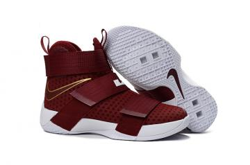 competitive price 5160c 8c400 Nike Lebron Soldier 10 X Red Gold White Preschool Basketball Shoes Men  Sneaker 845122-668