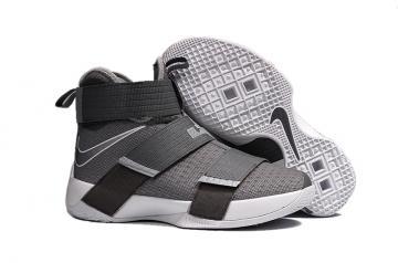 9fa8346488513 Nike Lebron Soldier 10 X White Grey Basketball Shoes Men Sneaker 844374-002