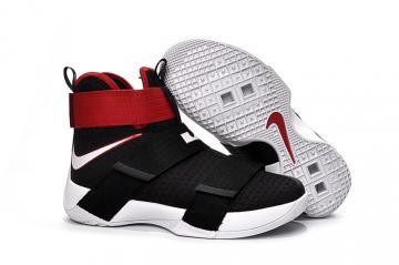 timeless design df04b ee7d4 Nike Lebron Zoom Soldier X 10 Black University Red White 844374-016