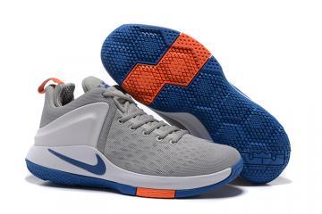 939ed081777a4 Nike Zoom Witness Lebron James Grey Blue Grey Basketball Shoes 884277-004
