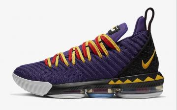 1451fc76272a Nike LeBron 16 Court Purple Comet Red Tour Yellow CI1520-500