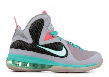 buy popular 2ce37 a7e06 Lebron 9 GS South Beach Mnt Candy Grey Pink Green Fl Wolf New 472664-006