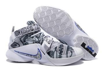 timeless design 9a2e3 174f7 Nike Zoom Lebron Soldier IX 9 QS LMTD Freegums White Concord 810803-014