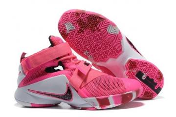 competitive price 74ec9 9b272 Nike Zoom Lebron Soldier IX Men Basketball Breast Cancer Awareness Shoes  749417-601