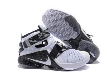 best cheap 51337 a6076 Nike Zoom Soldier 9 IX White Black Women Shoes 810803