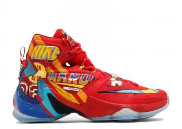 new style 45645 0aaf9 Lebron 13 Universty Red Multi Color 843801-696