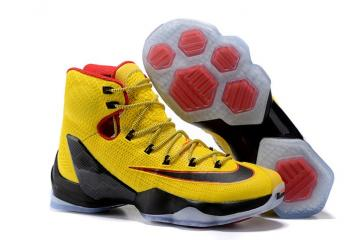 100% authentic cea17 703e0 Nike Lebron XIII Elite EP 13 James Men Basketball Shoes Yellow Black Red  831924