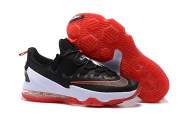newest 82c77 93a46 Nike Lebron XIII Low EP 13 James Bred Black Red White Men Basketball Shoes  831926-061