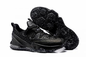 uk availability efdc5 b3252 Nike Lebron XIII Low EP James 13 Triple Black Men Basketball Shoes  831926-001