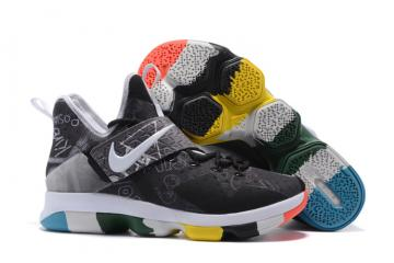 d7a2d785bb26 Nike LeBron Low XIV 14 a black one white basketball men shoes