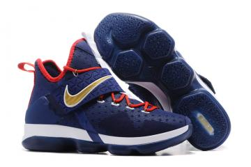 best service a13b9 b014b Nike Lebron XIV EP 14 Lebron James blue white orange Men Basketball Shoes  921084-004