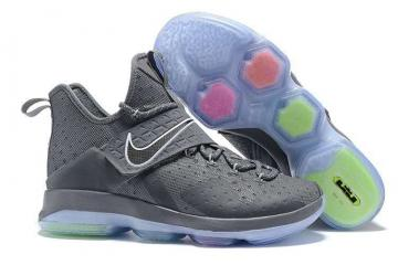 50a437413f1c Nike Zoom Lebron XIV 14 Wolf Grey Men Basketball Shoes 921084