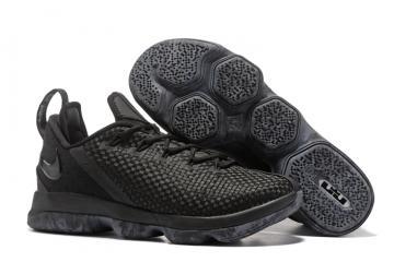 a5c65a88a Nike Zoom Lebron XIV 14 Low Men Basketball Shoes Black All 878635