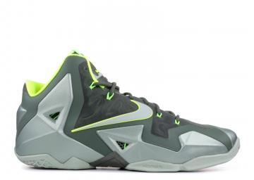 a10fb50949e Lebron 11 Dunkman Dark Volt Spray Green Sea Mica 616175-300