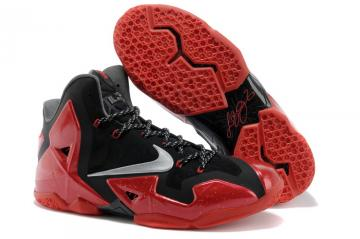hot sale online 4db95 bc322 Nike Zoom Lebron XI 11 Men Basketball Shoes Black Red 621712-001