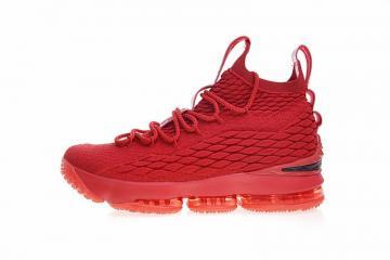 b214fc2650e9 Nike Lebron 15 Xv Pe Ohio State University Red Basketball 897649-600