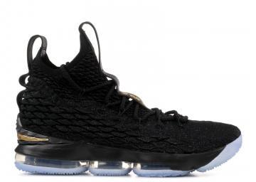 cd8937eb2ee Nike Lebron XV 15 Black Metallic Gold Ice 897648-006