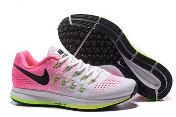 size 40 8ea9c 58e30 Nike WMNS Air Zoom Pegasus 33 Women Running Sneakers White Pink Green  831356-106