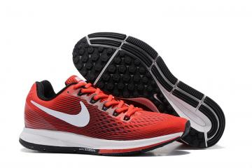 Nike Air Zoom Pegasus 34 EM Men Running Shoes Sneakers Trainers Crimson  Black White 880555-601 9c6c4b4e7