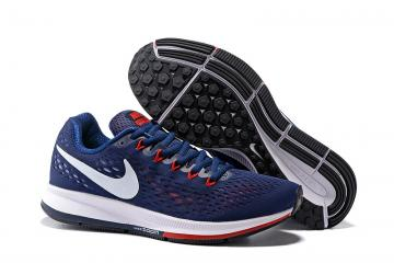 fe46f076a1f4 Nike Air Zoom Pegasus 34 EM Men Running Shoes Sneakers Trainers Navy Blue  Red 831350-006