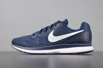 Nike Air Zoom Pegasus 34 Running Dark Blue White Anthracite 880555-401 a368aec7f