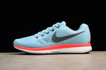 Nike Air Zoom Pegasus 34 Running Light Blue White Red Anthracite 880555-404 76e0eac9d