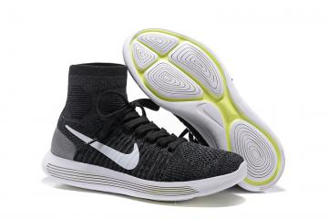 Nike Lunarepic Flyknit Pure Black White Men Running Shoes Sneakers Trainers  818677-007 6421fccea