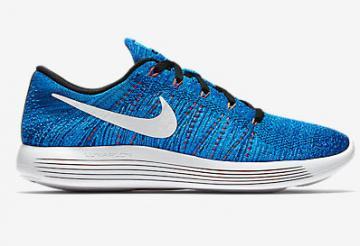 4c9752b13a5ce Nike Lunar Epic Low Flyknit Men Shoes Royal Blue White 843764-401