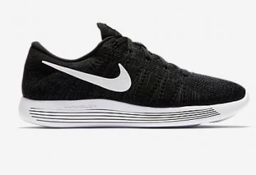 best website d1af1 0bd2f Nike Lunar Epic Low Flyknit Men Shoes Sneakers Black White 843764-002
