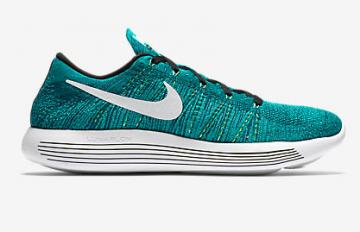357a7fb745aec Nike Lunar Epic Low Flyknit Trainers Running Shoes Jade White 843764-301
