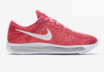 8a515f5e8b927 Nike Lunar Epic Low Flyknit Women Running Shoes Red Orange White 843765-601