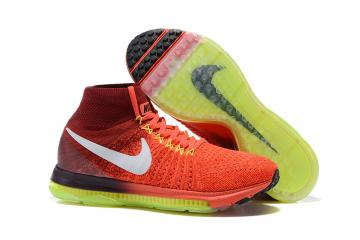 Nike Zoom All Out Flyknit Light Red Spring Green Men Running Shoes Sneakers  Trainers 844134-616 5aee29a3b