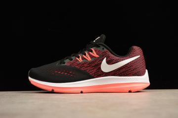 b7b479200fbe0 Nike Zoom Winflo 4 Crimson Black Orange Red Training Athletic Sneaker  898485-006