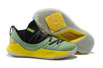 40fc787ba0a Under Armour UA Curry V 5 Low Men Basketball Shoes Green Gold