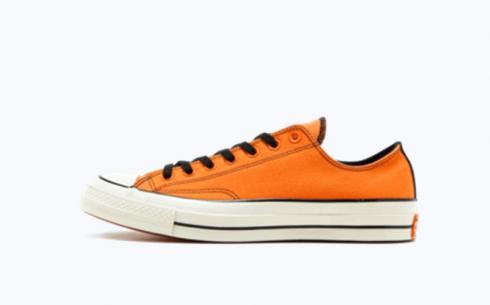Converse CTAS 70 Ox Vibrant Orange Black Egret Shoes