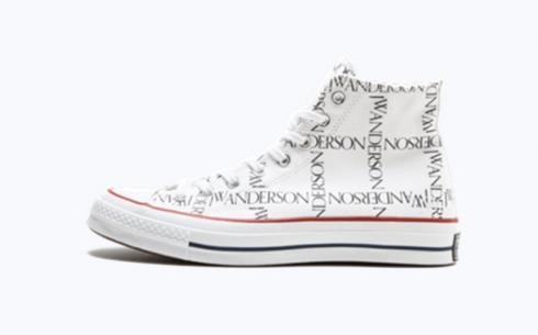 Converse JW Anderson CTAS 70 Hi White Black Insignia Red Shoes