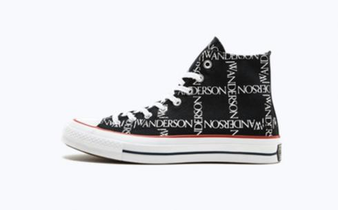 Converse Jw Anderson CTAS 70 Hi Black White Insignia Red Shoes