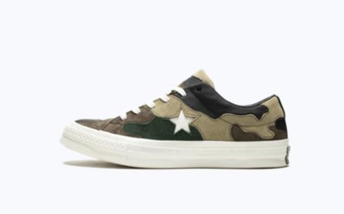 Converse One Star Ox Canteen Black Forest White Shoes
