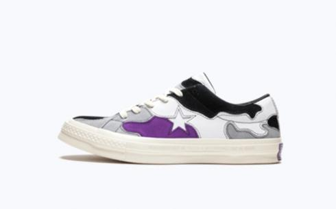 Converse One Star Ox Deep Lavender Wolf Grey White Shoes