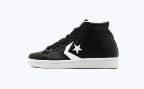 Converse Pro Leather 76 Mid Black White Shoes