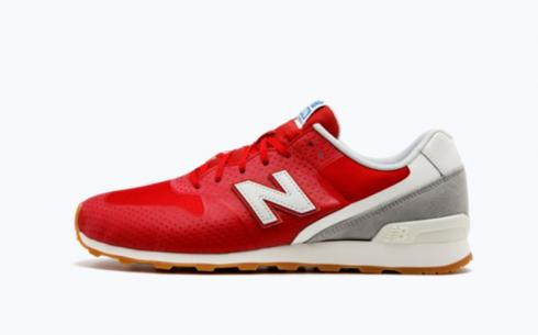 New Balance 696 White Red Athletic Shoes