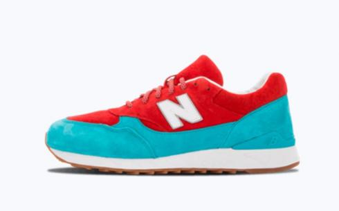 New Balance CM496 Teal Red Athletic Shoes