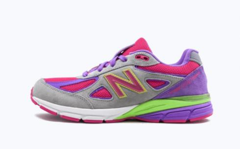 New Balance KJ990K2G Grey Purple Pink Neongreen Athletic Shoes