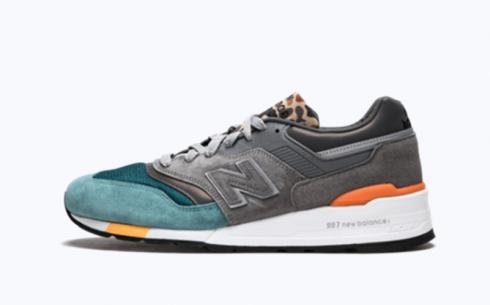 New Balance M997 Grey Green Athletic Shoes