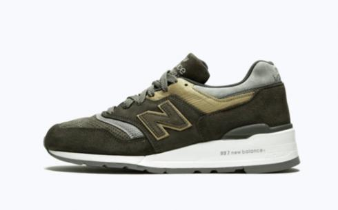 New Balance M997 Grey Tan Athletic Shoes