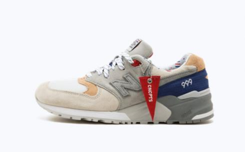 New Balance M999Cp1 Beige Tan Navy Athletic Shoes