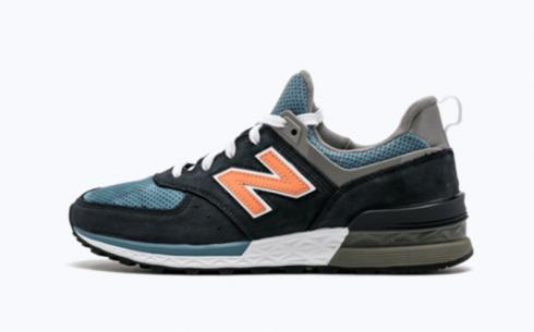 New Balance MS574 Blue Navy Athletic Shoes