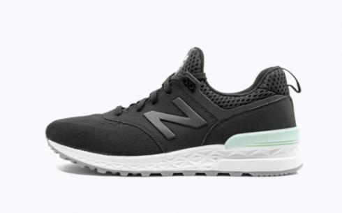New Balance MS574 Sport Black Athletic Shoes